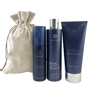 Monat Volume System - Revive Volumizing Shampoo, Revitalize Conditioner and Reshape Root Lifter Bundle with Free Linen Bag