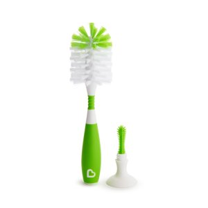 Munchkin Bristle Bottle Brush, Green