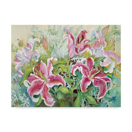 Trademark Fine Art 'Stargazer Lilies' Canvas Art by Joanne Porter ()
