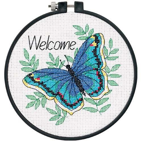 "Dimensions Learn-A-Craft ""Welcome Butterfly"" Counted Cross Stitch Kit, 6"""