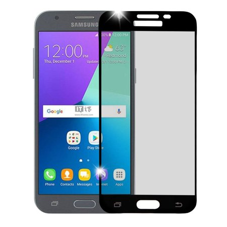Insten Black Tempered Glass Screen Protector (Full Coverage) for Samsung Galaxy Express Prime 2 / J3