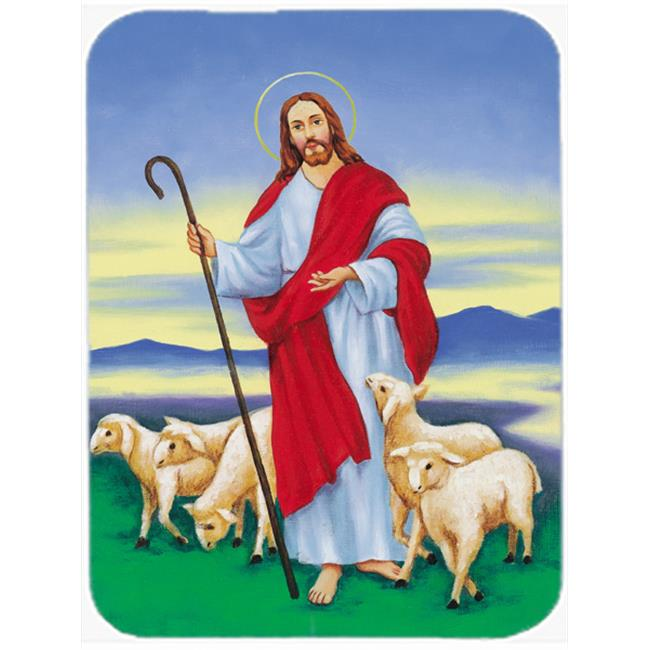 Carolines Treasures AAH6876LCB Jesus the Good Shepherd Glass Large Cutting Board - image 1 de 1