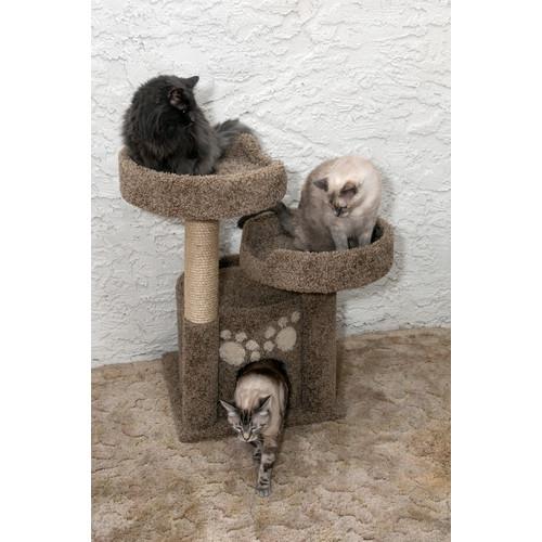 New Cat Condos 35'' Premier Double Perch Solid Wood Cat Condo