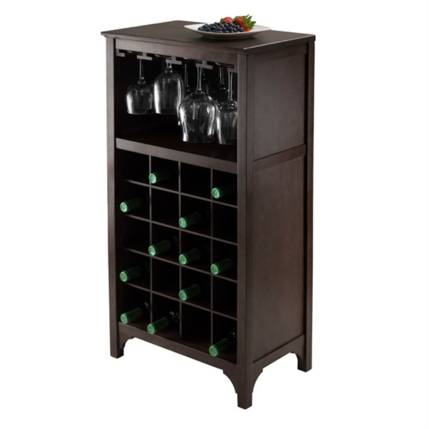 Ancona Modular Wine Cabinet with Glass Rack & 20-Bottle