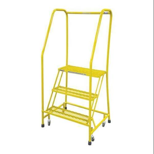 COTTERMAN 1003R1820A3E10B3C2P6 Rolling Ladder,Steel,60In. H.,Yellow G0995340