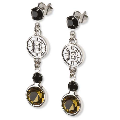 LogoArt NHL Logo Crystal Earrings