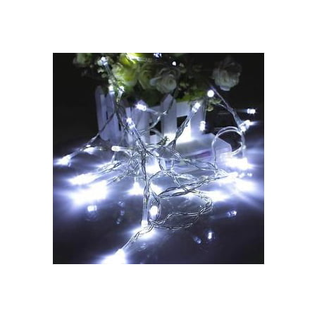 Perfect Holiday 100 LED String Fairy Light - White](Led White Lights)