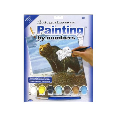 Royal Paint By Number Junior Grizzly Bear