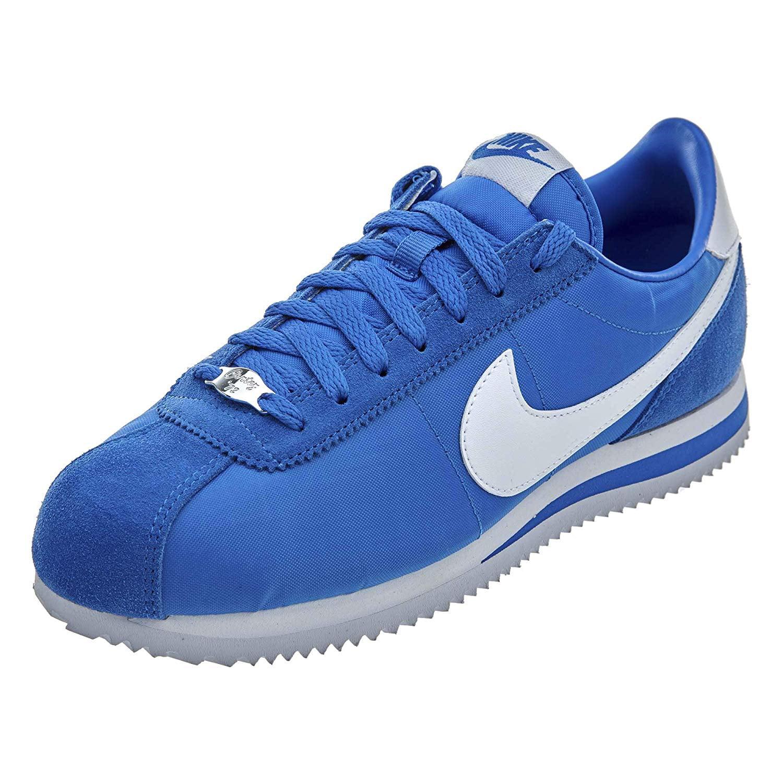 Nike - Nike Cortez Basic Nylon Mens Shoes Signal Blue/White 819720-402 -  Walmart.com