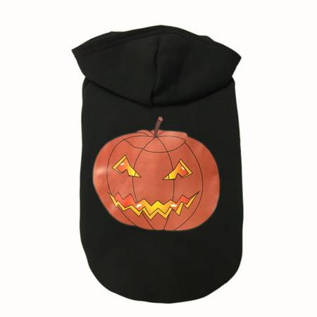 Dressing For Halloween (Halloween Pumpkin Bone Pet Dog Dressing Halloween Sweater Shirt Dress)