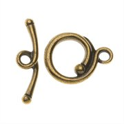 TierraCast Maker's Collection, Renaissance Toggle Clasp Set, Brass Oxide Finish