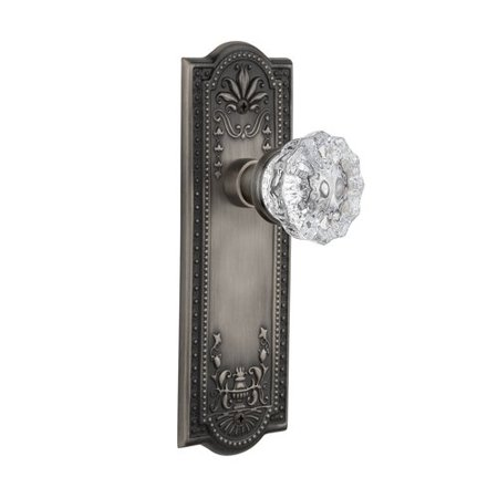 Nostalgic Warehouse Crystal Door Knob with Meadows Plate