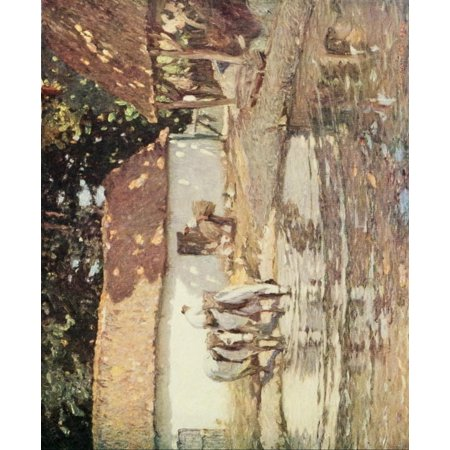 Posterazzi The Studio 1910 A Picardy farmhouse Canvas Art - Henry Silkstone Hopwood (24 x 36)