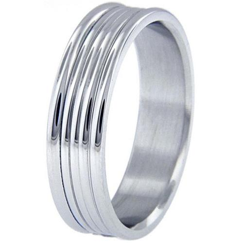 Doma Jewellery SSSSR1148 Stainless Steel Ring, Size 8
