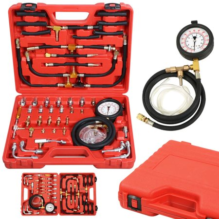 Yaheetech Deluxe Universal Manometer Fuel Injection Pressure Tester Gauge Kit 0 140 Psi