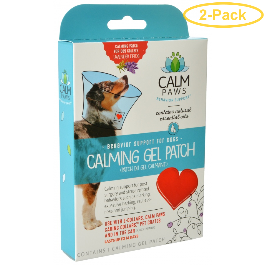 Calm Paws Calming Gel Patch for Dog Collars 1 Count - Pack of 2