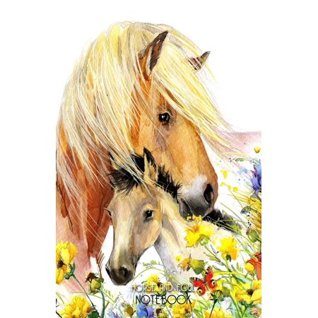 Horse and Foal Notebook: Horse Notepad with 100 Lined Pages Beautiful Horse Gift for Horse Lovers (Paperback) ()
