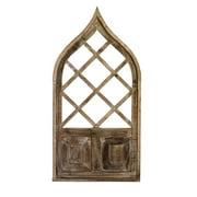 Rustic Arrow 12574 Wine Rack Window with Board Aladin Wall Accent