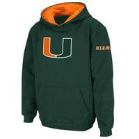 Miami Hurricanes Stadium Athletic Youth Big Logo Pullover Hoodie - Green