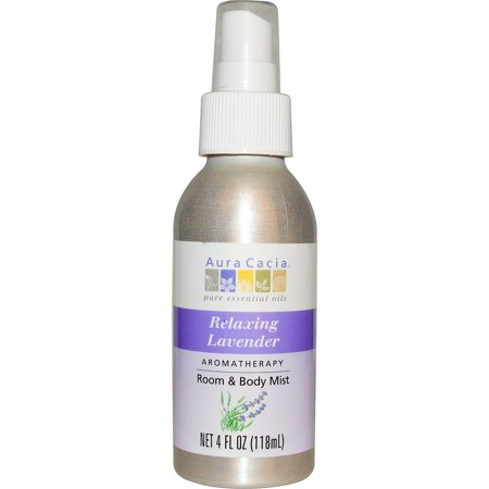 Aura Cacia, Aromatherapy Room & Body Mist, Relaxing Lavender, 4 fl oz (pack of 1)