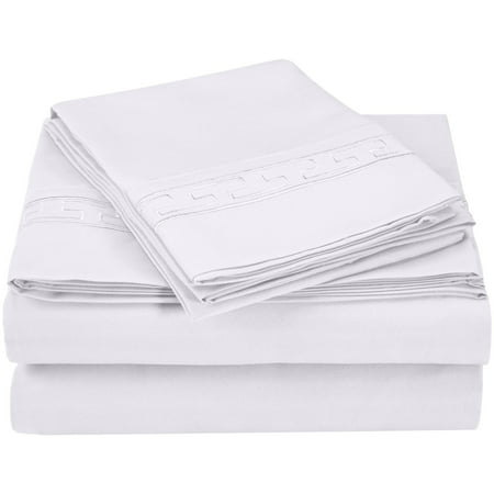 Superior Light Weight and Super Soft Brushed Microfiber, Wrinkle Resistant Sheet Set with Regal Embroidery ()