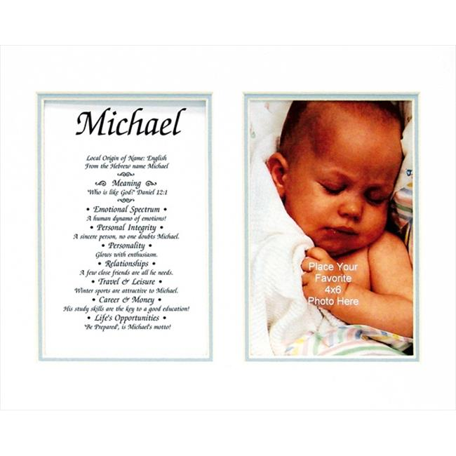 Townsend FN03Micheal Personalized Matted Frame With The Name & Its Meaning - Micheal