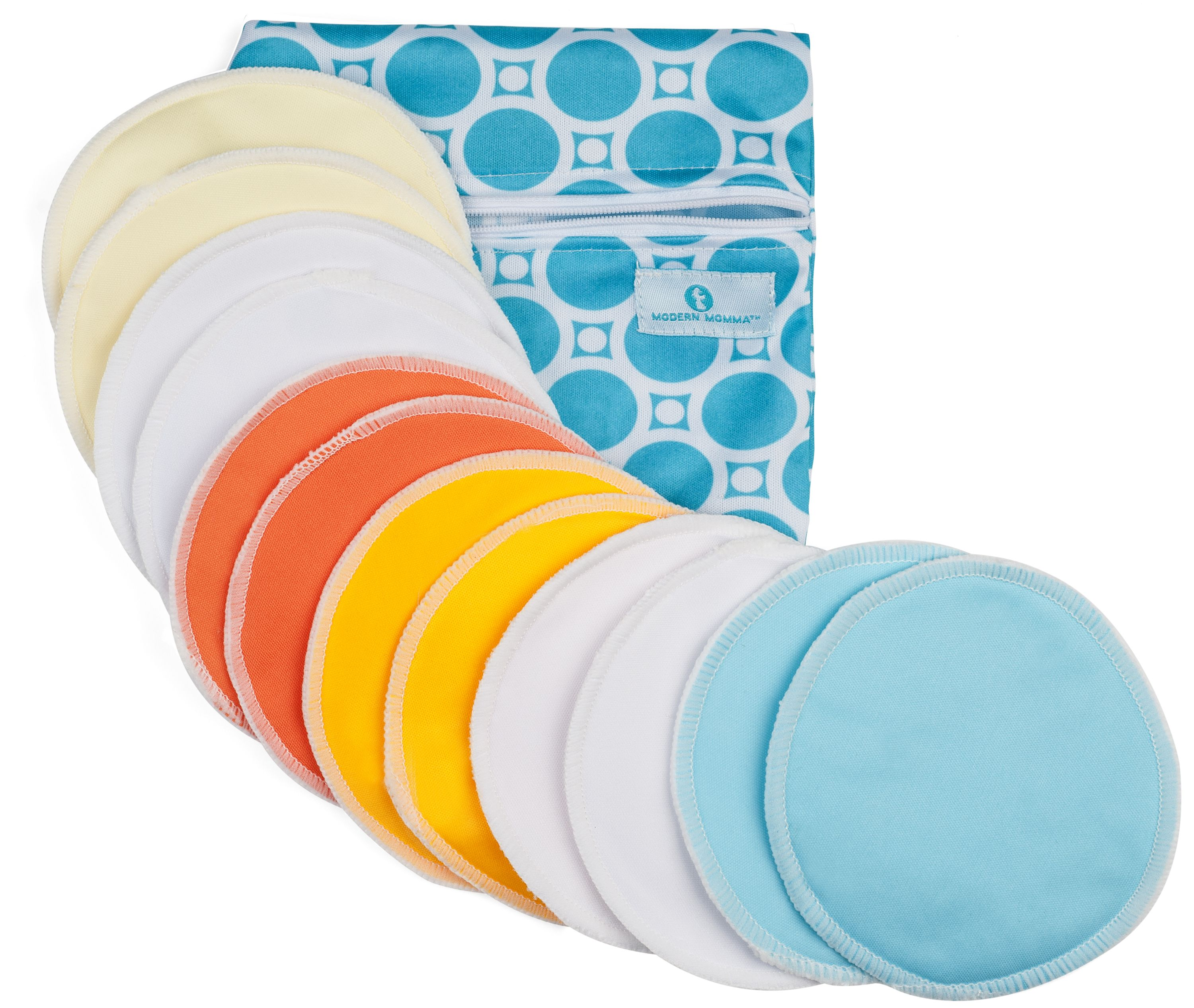 12 Pack Nursing Pads- Washable Organic Bamboo, by Modern Momma by Modern Momma