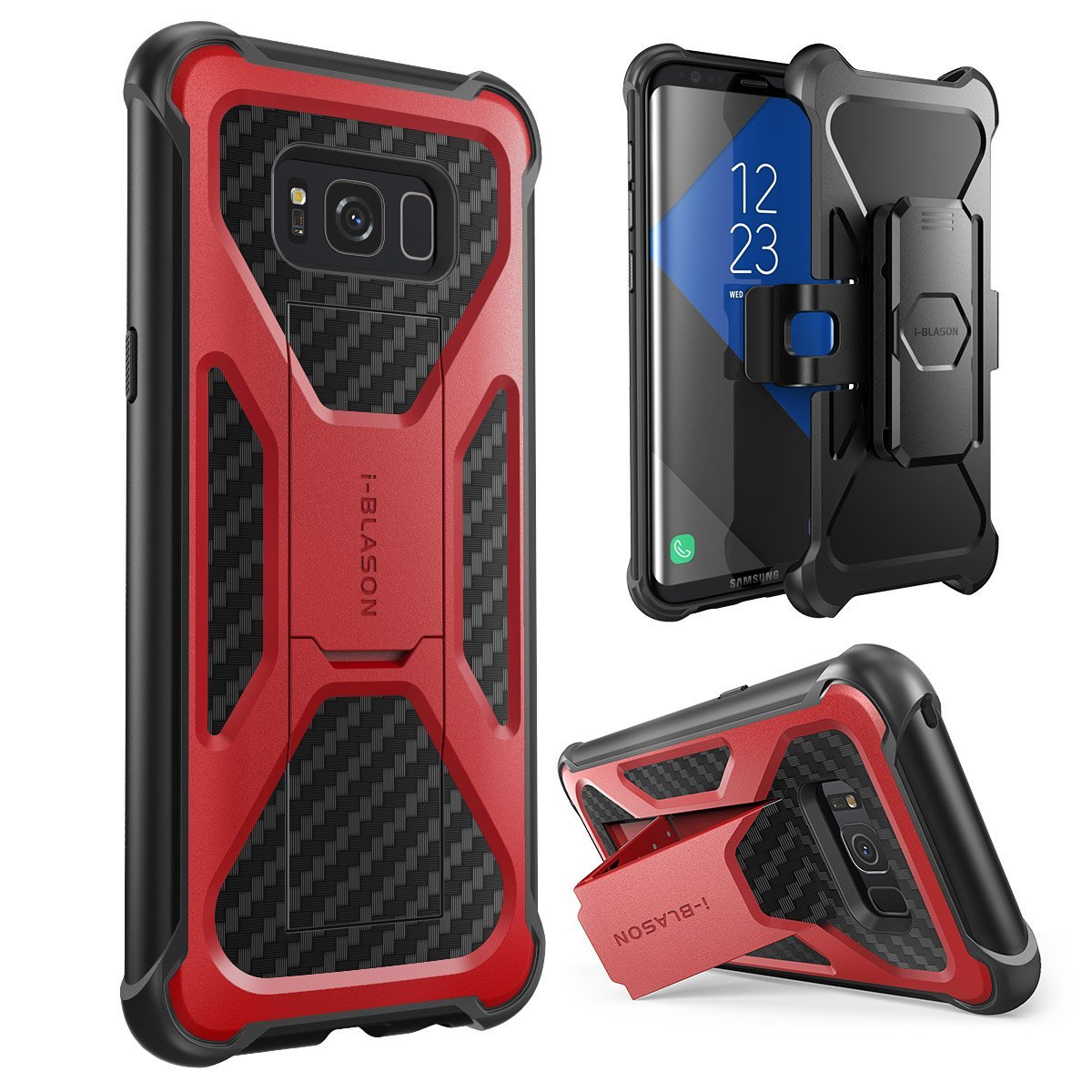 Galaxy S8 Plus Case, i-Blason, Transformer,2017 Release, Dual Layer Case with Holster Case, S8 Case, Galaxy S8 Case