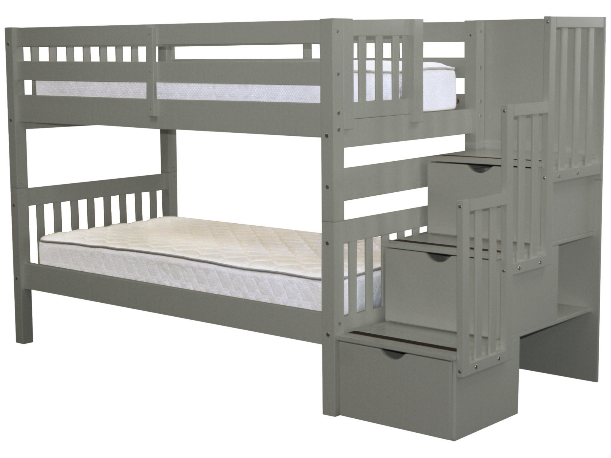 Bedz King Twin Bunk Bed with Storage by Bedz King