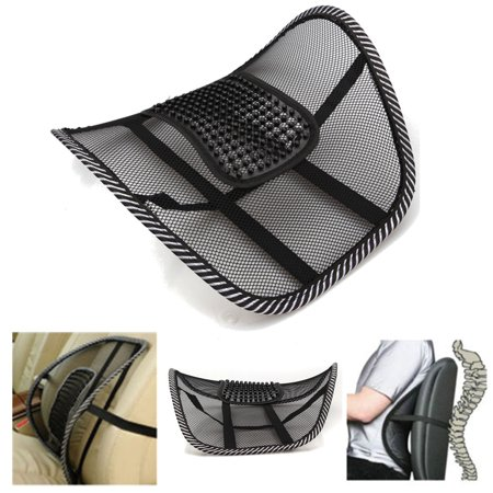 Mesh Lumbar Back Brace Support Office Home Car Seat Chair Cushion Massage Waist Protect Protector Summer Cool