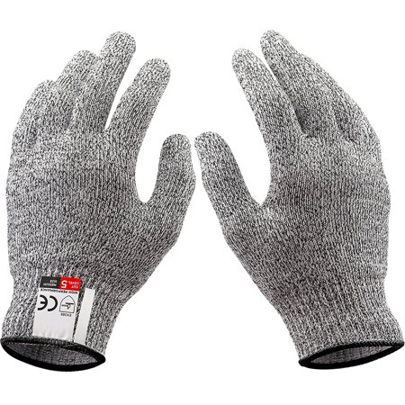 1 Pair Cut Resistant Gloves, Safety Work Glove, Good Performance Level 5 Protection Cuts Glove, Food Grade, Large Size - image 4 of 8