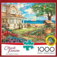 Buffalo Games - Chuck Pinson - Sea Garden Cottage - 1000 Piece Jigsaw Puzzle