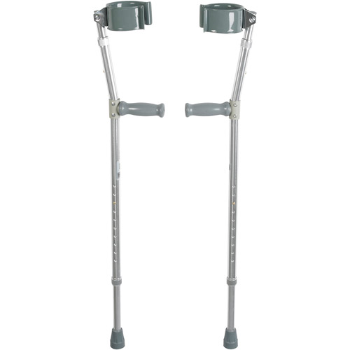 Drive Medical Lightweight Walking Forearm Crutches, Adult