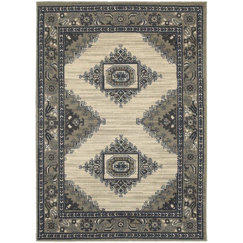 "Pemberly Row 9'10"" x 12'10"" Machine Woven Rug in Beige"