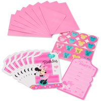 Minnie Mouse 1st Birthday Party Invite Postcards, 8ct