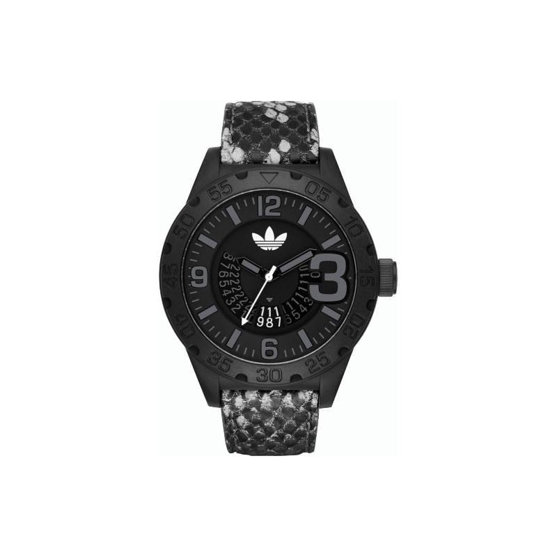 Adidas Newburgh Black Dial Black Leather Mens Watch ADH3042 by Adidas