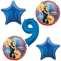 Captain Marvel 9th Birthday Balloons