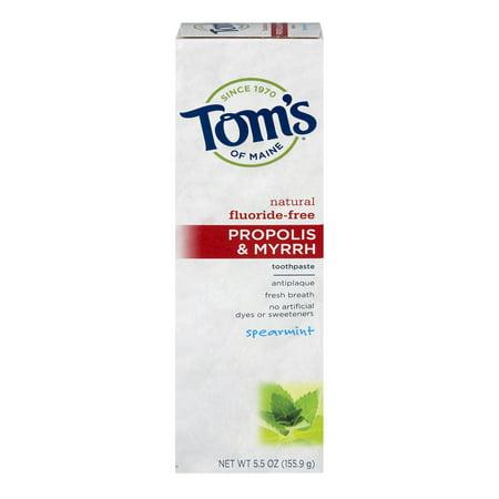 Toms Of Maine Propolis   Myrrh Fluoride Free Spearmint  5 5 Oz