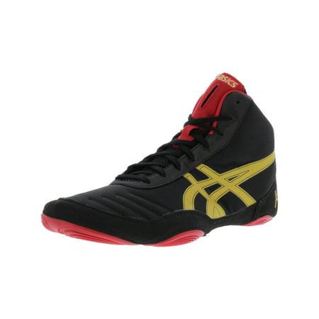 Asics Men's Jb Elite V2.0 Black / Olympic Gold Red Ankle-High Fabric Wrestling Shoe -