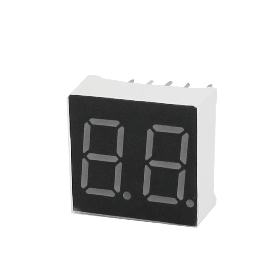 Unique Bargains DIP 10Pin 2 Bit Red LED Numeric Digital Display Common Anode 15x14mm