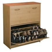 Venture Horizon Premium Shoe Cabinet, Dual Compartment, Oak