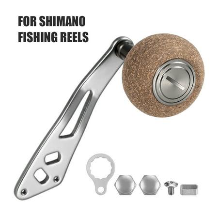 2BB Ball Bearings Fishing Reel Handle for Left Right Baitcasting Trolling Reel Cork Handle Knob for Shimano Fishing Reel thumbnail