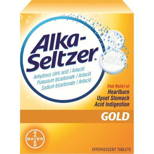 Alka-Seltzer Effervescent Tablets Gold 36 Tablets (Pack of 2)