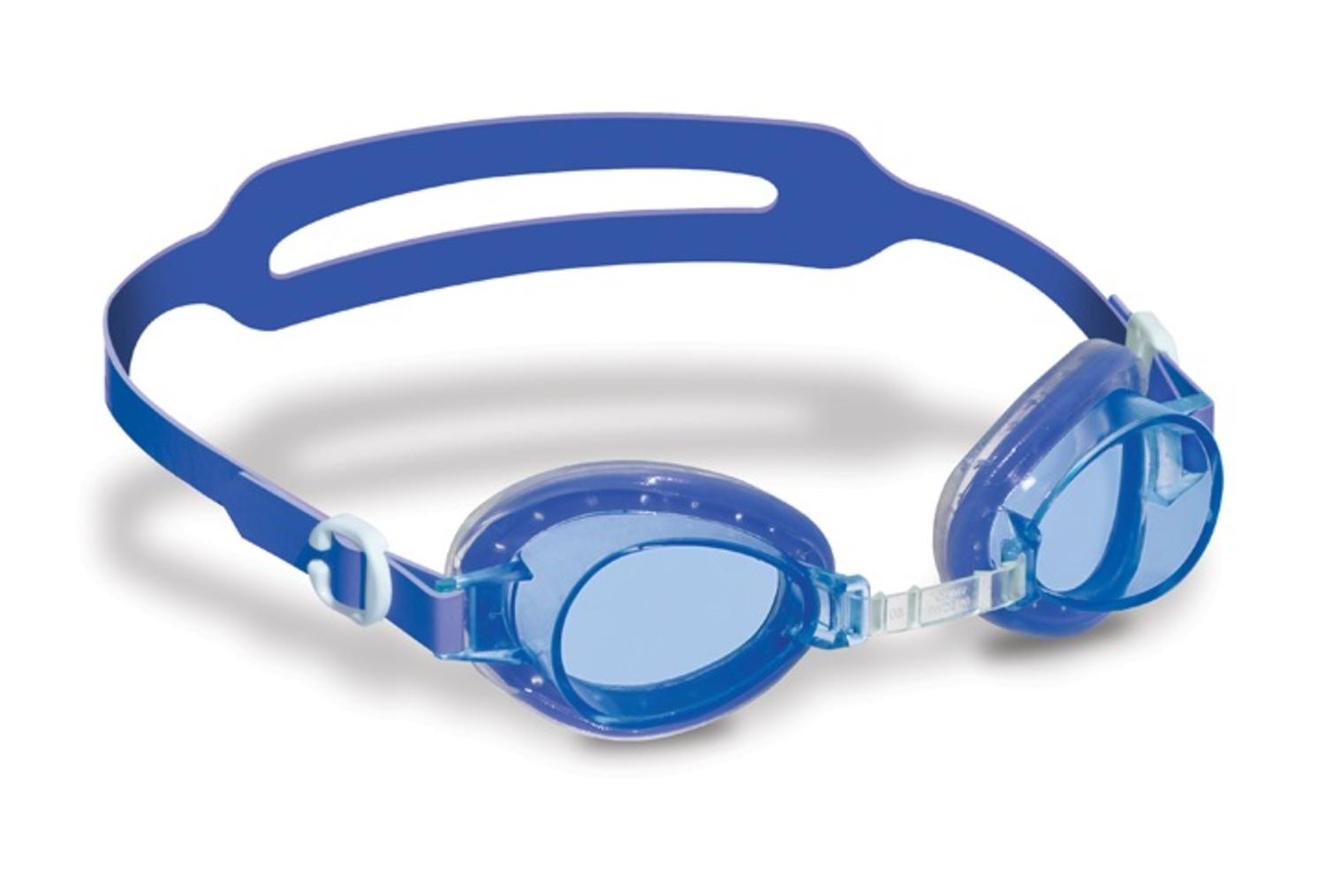 "6"" Blue Jelly Goggles with Clear Case Swimming Pool Accessory for Kids Age 4+ Years by Swim Central"