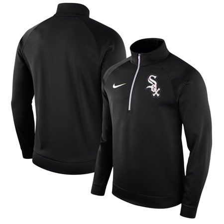 Chicago White Sox Nike Therma Top Bench Half-Zip Pullover Jacket - (Best Black And White Nikes)