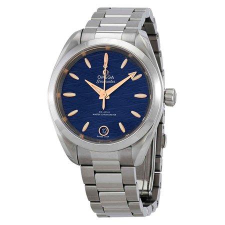 Omega Seamaster Aqua Terra Co-Axial Master Chronomter Automatic Blue Dial Ladies Watch 220.10.34.20.03.001