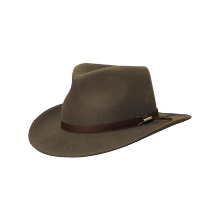 03b5a56290ed9 Woolrich - Crushable Wool Felt Outback Hat - Walmart.com