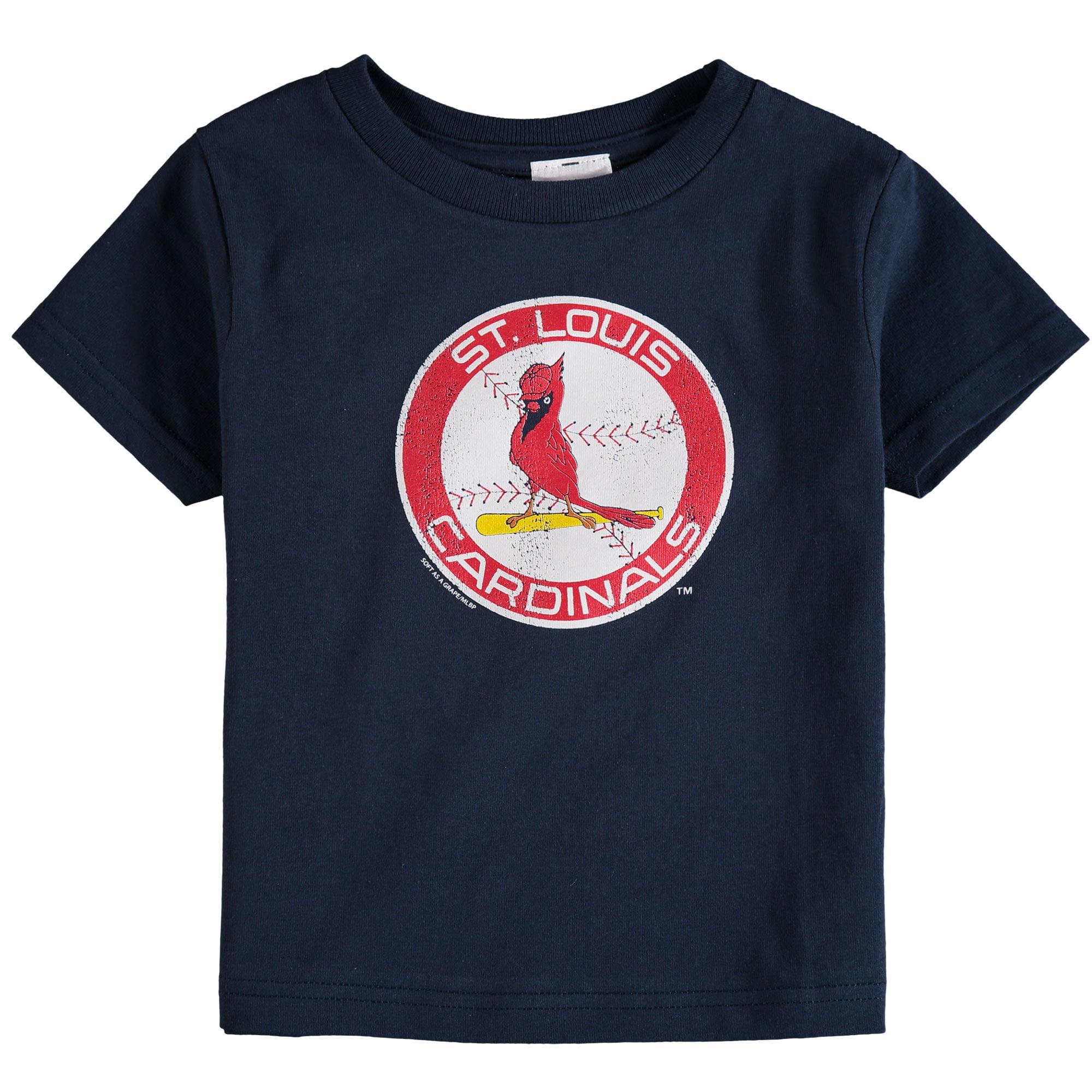 St. Louis Cardinals Soft As A Grape Toddler Cooperstown Collection Shutout T-Shirt - Navy