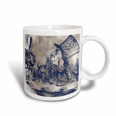 Vintage Tea Party (3dRose Mad Hatter Vintage Alice in Wonderland Tea Party, Ceramic Mug,)