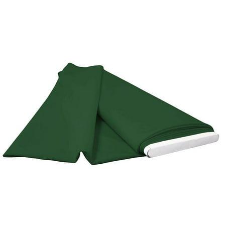 LA Linen PopBolt-10Yrd-GreenHuP20 10 Yards Polyester Poplin Flat Fold, Hunter - Hunter Flats